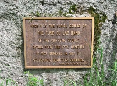 Burial Ground of the Fond du Lac Band Marker image. Click for full size.