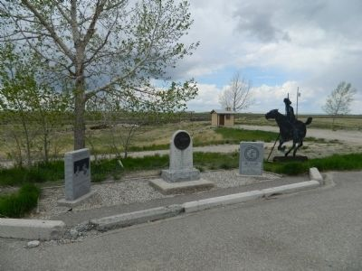 To the Brave Men Who Rode the Pony Express Marker image. Click for full size.
