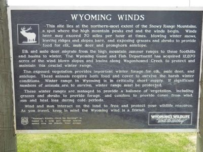 Wyoming Winds Marker image. Click for full size.