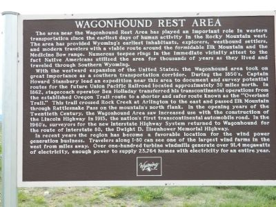 Wagonhound Rest Area Marker image. Click for full size.