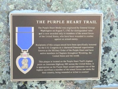 The Purple Heart Trail Marker image. Click for full size.