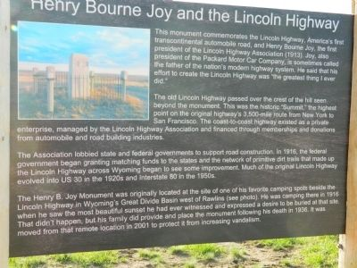 Henry Bourne Joy and the Lincoln Highway Marker image. Click for full size.