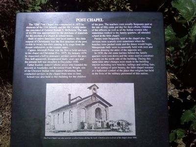 Post Chapel Marker image. Click for full size.