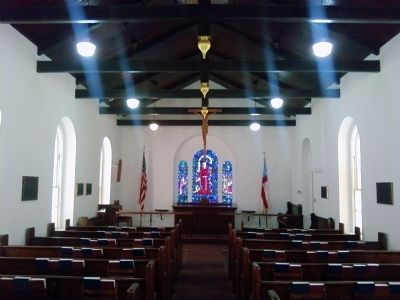 Post Chapel interior image. Click for full size.