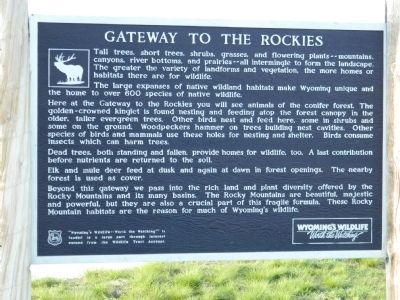 Gateway to the Rockies Marker image. Click for full size.