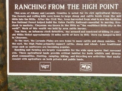 Ranching from the High Point Marker image. Click for full size.