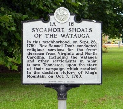Sycamore Shoals of the Watauga Marker image. Click for full size.