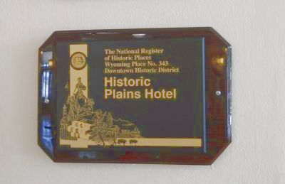 Historic Plains Hotel Marker image. Click for full size.