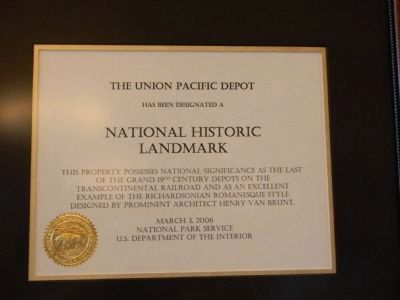National Historic Landmark Plaque image. Click for full size.