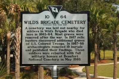 Wild's Brigade Cemetery Marker image. Click for full size.