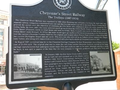 Cheyenne's Street Railway Marker image. Click for full size.