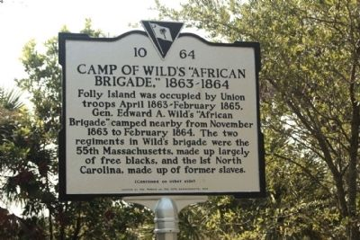 Camp of Wild's African Brigade, 1863 - 1864 image. Click for full size.