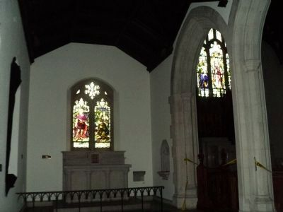 Altar & Stained Glass in Chapel image. Click for full size.