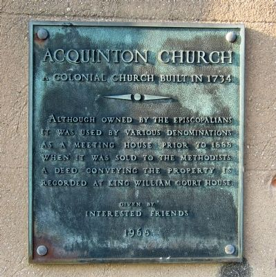 Acquinton Church Marker image. Click for full size.