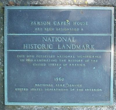 Parson Capen House Marker image. Click for full size.