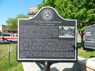 The Union Pacific Railroad Part 2 Marker image. Click for full size.