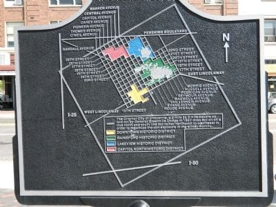 Map of 1974 Downtown National Historic District image. Click for full size.