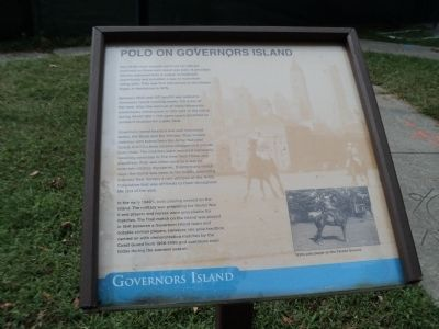 Polo on Governors Island Marker image. Click for full size.