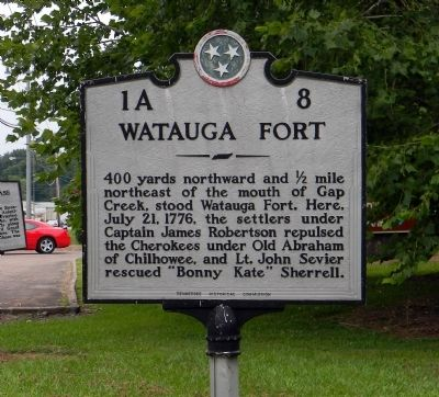 Watauga Fort Marker image. Click for full size.