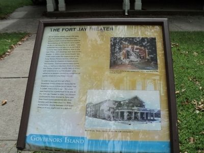 The Fort Jay Theater Marker image. Click for full size.