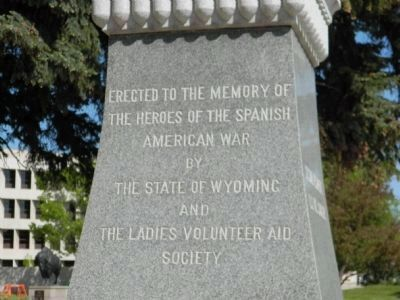 Wyoming Spanish American War Monument image. Click for full size.
