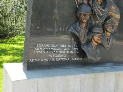 Wyoming Army and Air National Guard Memorial image. Click for full size.