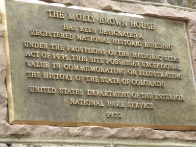 The Molly Brown House Marker image. Click for full size.