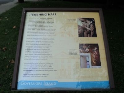 Pershing Hall Marker image. Click for full size.