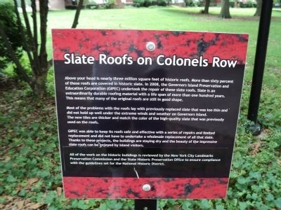 Slate Roofs on Colonels Row Marker image. Click for full size.