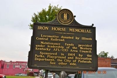 Iron Horse Memorial Marker (reverse) image. Click for full size.