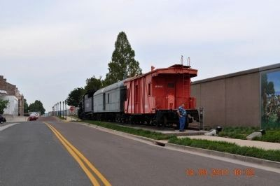 Iron Horse train engine, box car and Little Red Caboose. image. Click for full size.