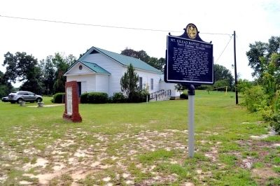 Mt. Gilead Baptist Church and Marker image. Click for full size.