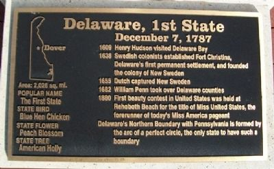 Delaware, 1st State Marker image. Click for full size.