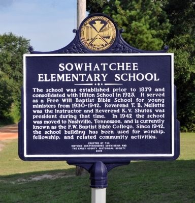 Sowhatchee Elementary School Marker image. Click for full size.