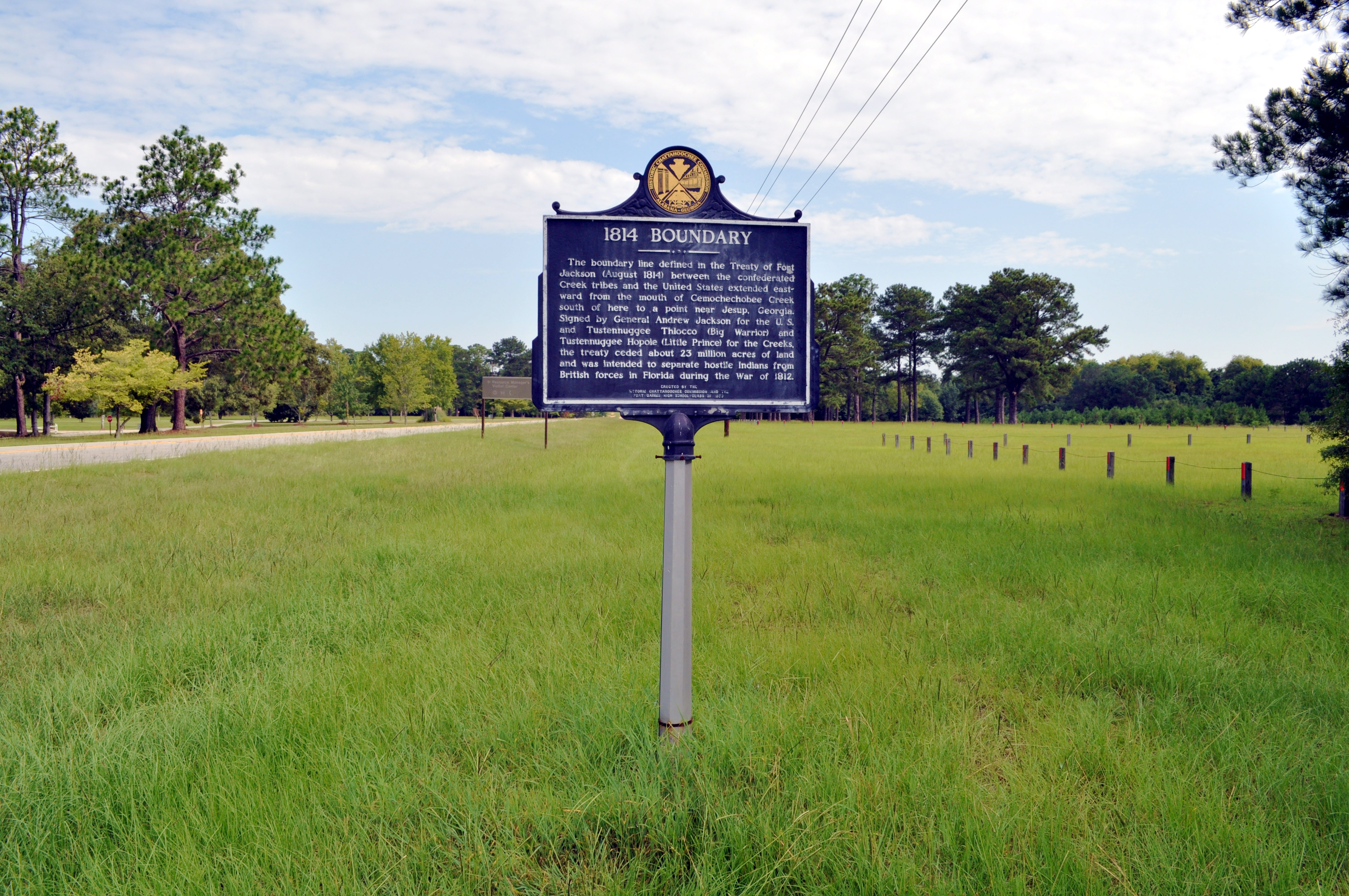 1814 Boundary / Founding of Fort Gaines Marker