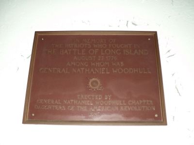 Marker inside St. Cornelius Chapel image. Click for full size.