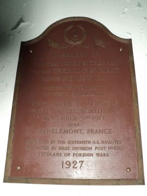 Second Marker Inside St. Cornelius Chapel image. Click for full size.