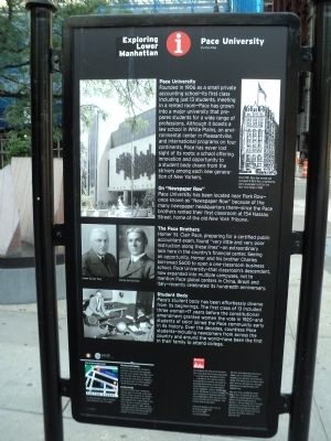 Pace University Marker image. Click for full size.