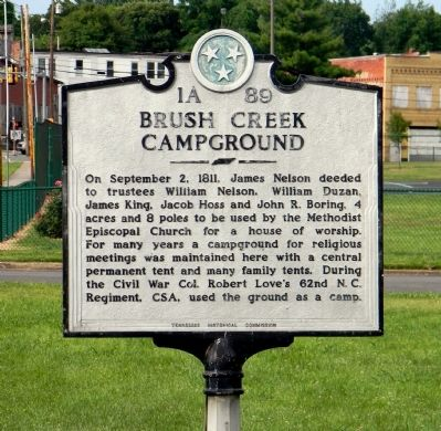 Brush Creek Campground Marker image. Click for full size.