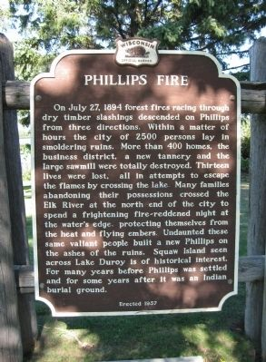 Phillips Fire Marker image. Click for full size.
