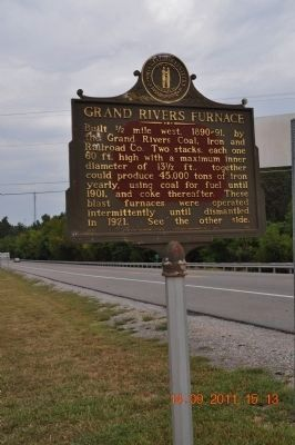 Grand Rivers Furnace Marker image. Click for full size.