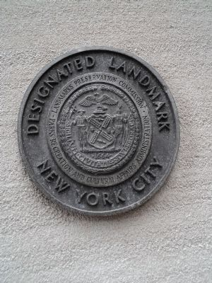 NYC Designated Landmark Marker image. Click for full size.