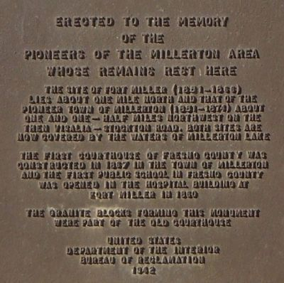 Erected to the Memory of the Pioneers of the Millerton Area Whose Remains Rest Here Marker image. Click for full size.