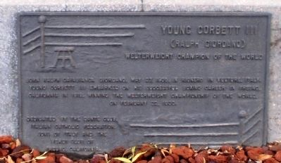 Young Corbett III Marker image. Click for full size.