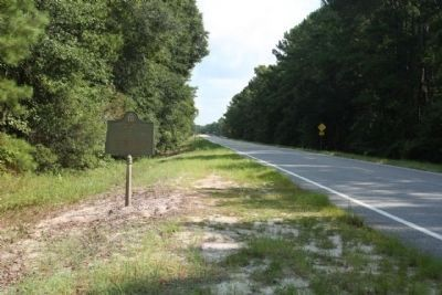 Confederate Post in 1864 Marker, looking north along US 17 image. Click for full size.