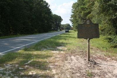 Confederate Post in 1864 Marker, looking south image. Click for full size.