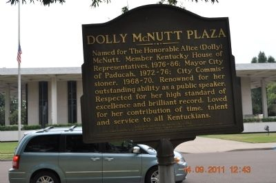 Dolly McNutt Plaza Marker image. Click for full size.