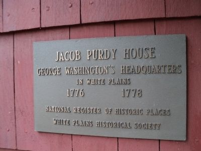 Jacob Purdy House Marker image. Click for full size.