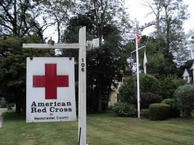 Marker at Red Cross Westchester Headquarters image. Click for full size.