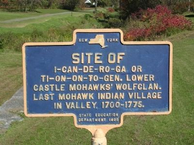 Site of Last Mohawk Indian Village Marker image. Click for full size.